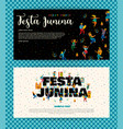 festa junina templates vector image