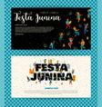festa junina templates vector image vector image