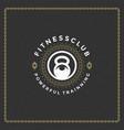 fitness gym badge or emblem vector image vector image