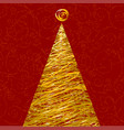 glitter christmas tree vector image