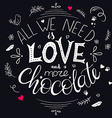 hand drawn lettering quote about love and vector image vector image