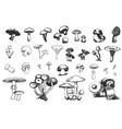 Hand drawn sketch of mushrooms