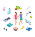 healthy lifestyle good habits sport activity vector image vector image
