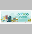 Hello winter cityscape background 3 vector image vector image