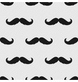 hipster moustache monochrome seamless pattern vector image