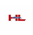 HL Logo Graphic Branding Letter Element vector image vector image