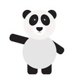 isolated cute panda vector image vector image
