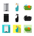 isolated object of cleaning and service symbol vector image