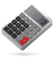 Isometric icon of calculator vector image vector image