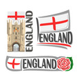 Logo for england vector image