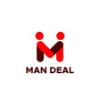 man deal logo for your company or brand vector image
