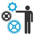Mechanics Presentation Flat Icon vector image vector image