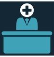 Medical Bureaucrat Icon vector image