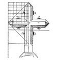 modern cross vintage vector image vector image