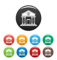 money bank icons set color vector image vector image