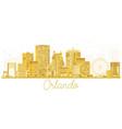 Orlando usa city skyline golden silhouette