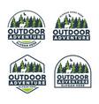 outdoor adventure badge logo vector image