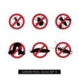 pest control set prohibition signs vector image
