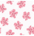 pink camelia flowers seamless pattern tree petals vector image vector image