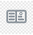 postcard concept linear icon isolated on vector image