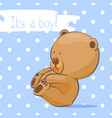 postcard with a funny bear vector image vector image