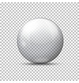 realistic transparent ball plaid background vector image vector image