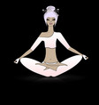 relaxing girl in yoga vector image vector image