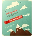 Retro Poster Design with clouds vector image vector image