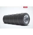 Row of Car tires at warehouse vector image