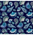 Sea seamless pattern Original hand drawn vector image