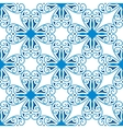 seamless pattern of blue geometric symbol vector image vector image