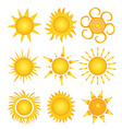 set of sun vector image vector image