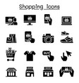 shopping on line icon set vector image vector image