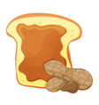 slice of bread or toast with peanut butter vector image