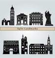 split landmarks vector image