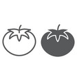 tomato line and glyph icon vegetable vector image vector image