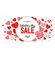 valentines day sale romantic banner background vector image
