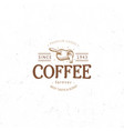 vintage dark coffee emblem flat retro vector image