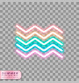 neon waves symbol vector image