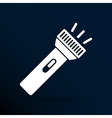 flashlight icon torch pocket light shine isolated vector image
