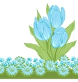 Design of tulips Flower background vector image