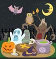 happy halloween concept cartoon style vector image