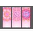 Set of geometric creative banners vector image