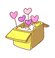 A heart in the box vector image vector image