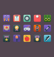 a pack of sports flat icons vector image