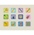 A set of different colourfull icons vector image