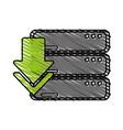 arrow data base vector image vector image