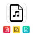 Audio file icon vector image