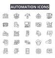 automation line icons for web and mobile design vector image