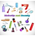 Beauty Salon Doodles vector image vector image